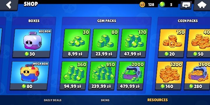 Brawl Boxes from the shop