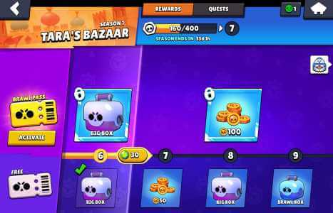 Brawl Boxes from the Brawl Pass