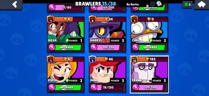 Pick your brawlers for Pushing Trophies