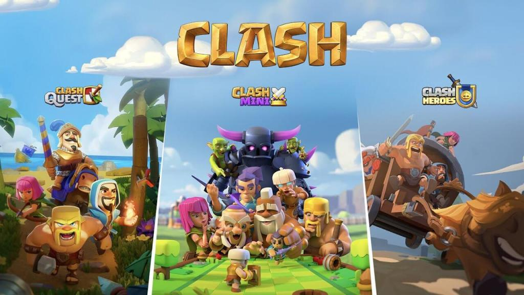 The different Clash games, including Clash Quest.