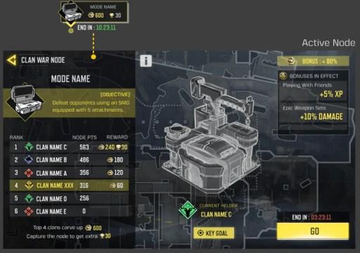 COD Mobile clan wars