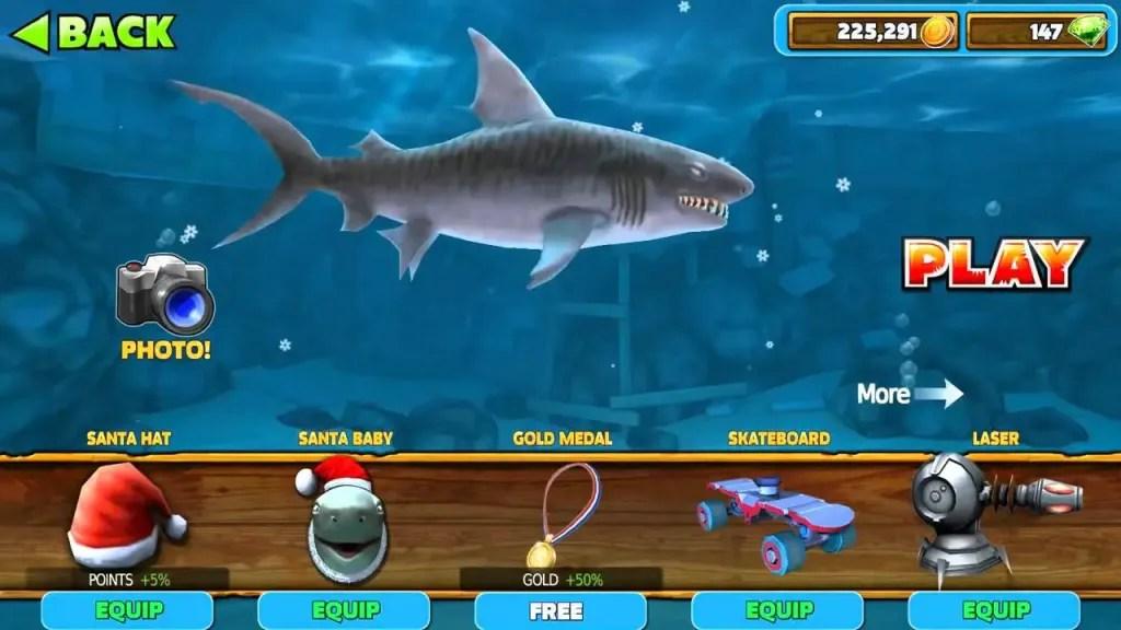 Hungry Shark Evolution equipment ss