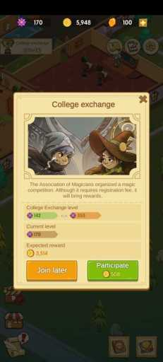 college exchange challenges to be completed.