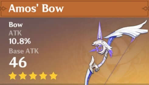 genshin impact sara amos bow