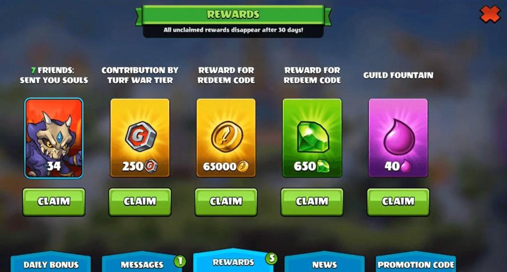 Mighty Party Codes Rewards