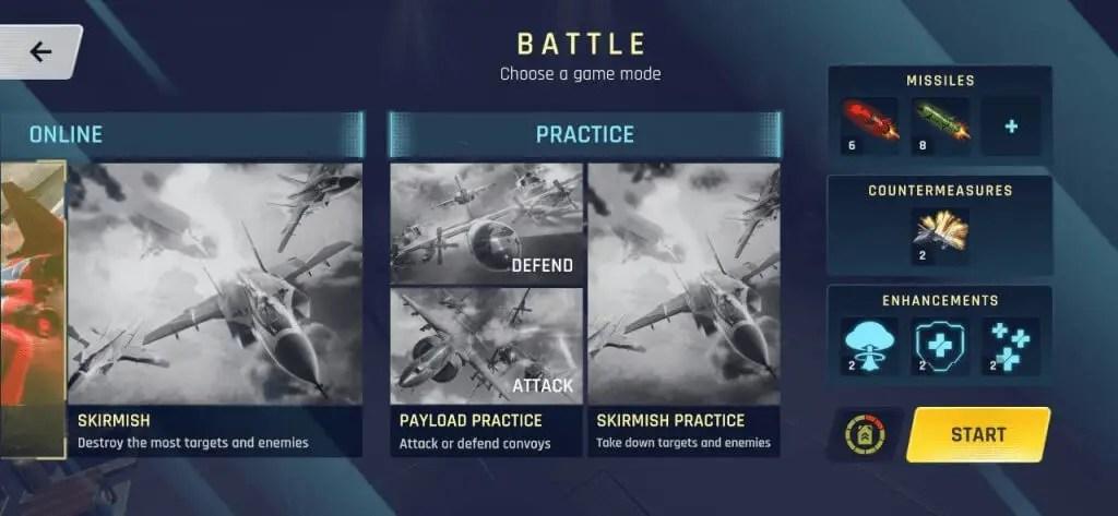 Sky Warriors Airplane Combat battle gameplay