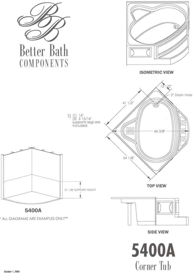 Kinro Corner Tub