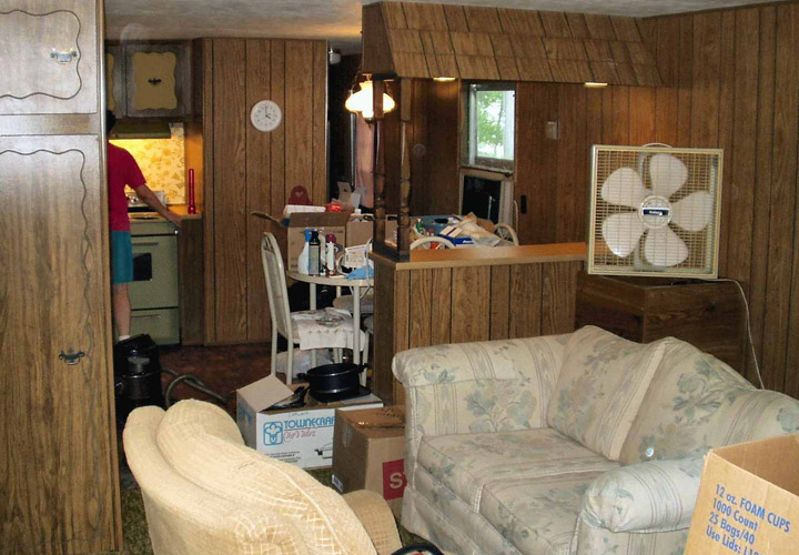 mobile home living room design ideas brown leather couch homes