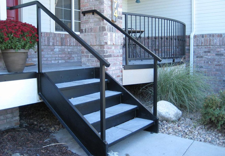 Exterior Stairs For Mobile Homes Mobile Homes Ideas   Premade Stairs For Outdoors