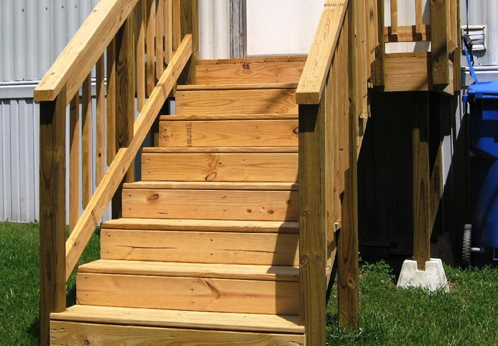 Exterior Stairs For Mobile Homes Mobile Homes Ideas | Mobile Home Outside Steps | Siding | Landscaping | Trailer | Double Wide | Deck
