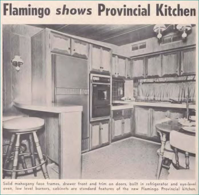 mobile home kitchen islands model kitchens from 1955 to 1960