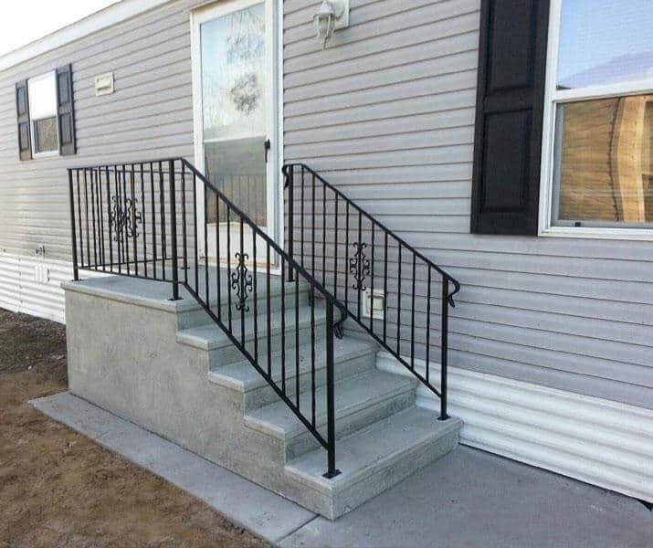 Everything You Need To Know About Mobile Home Steps Mobile Home   Metal Steps For Outside   Backyard   Steel Construction   Easy   Utility   Outdoors