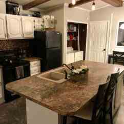 Remodel A Kitchen Taupe Painted Cabinets Open Floor Plan In Single Wide Making The Most Of An