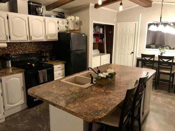 remodel a kitchen 36 inch table open floor plan in single wide making the most of an