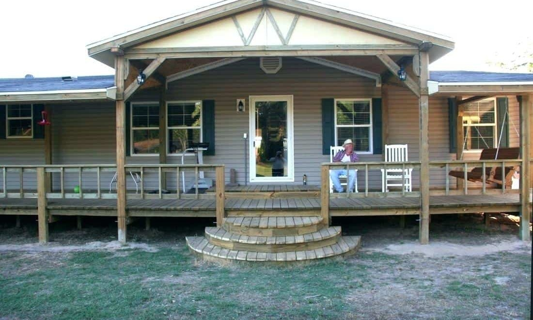 100 Great Manufactured Home Porch Designs How To Build Your Own | Wood Mobile Home Steps For Sale | Trailer House | Two Sided | Cost | Movable | Portable