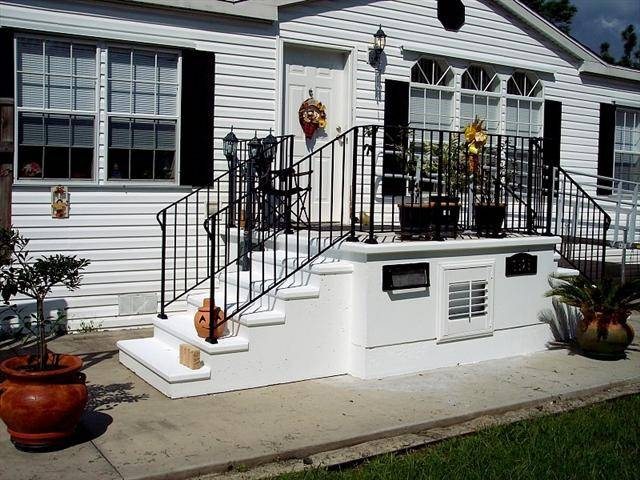 100 Great Manufactured Home Porch Designs How To Build Your Own | Front Step Design For House | Half Round | House Indian | Back Door Step | House Kerala | Circular Step