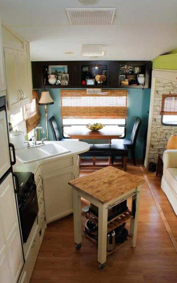 Camper Decorating Ideas Lauras 5th Wheel Makeover Mobile Home Living