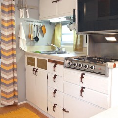 Kitchen Remodels Before And After Cost Of Marble Countertops Cozy Vintage Camper Renovation | Mobile Home Living