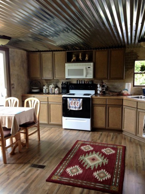 Lightweight Kitchen Cabinets Mobile Home Renovation: Professional Artist Creates Rustic