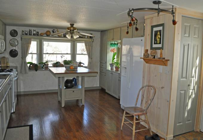 mobile home kitchen sink braided rugs budget-friendly makeover | ...