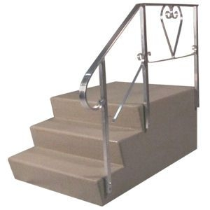 Everything You Need To Know About Mobile Home Steps Mobile Home   Lowes Pressure Treated Stair Treads   Railing   Stair Risers   Treated Lumber   Treated Wood Stair   Deck Stairs