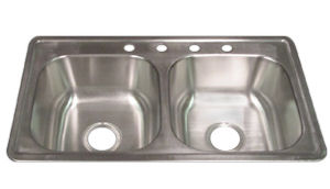 33x19 kitchen sink retro wallpaper elkay dayton 33 x 19 8 stainless steel mobile home parts store 110203