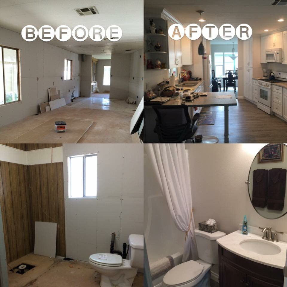 Before and After  Orange County Mobile Home Remodeling Contractor