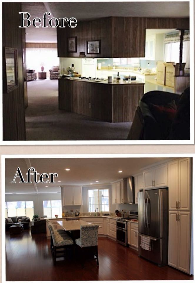 Before and After  Orange County Mobile Home Remodeling