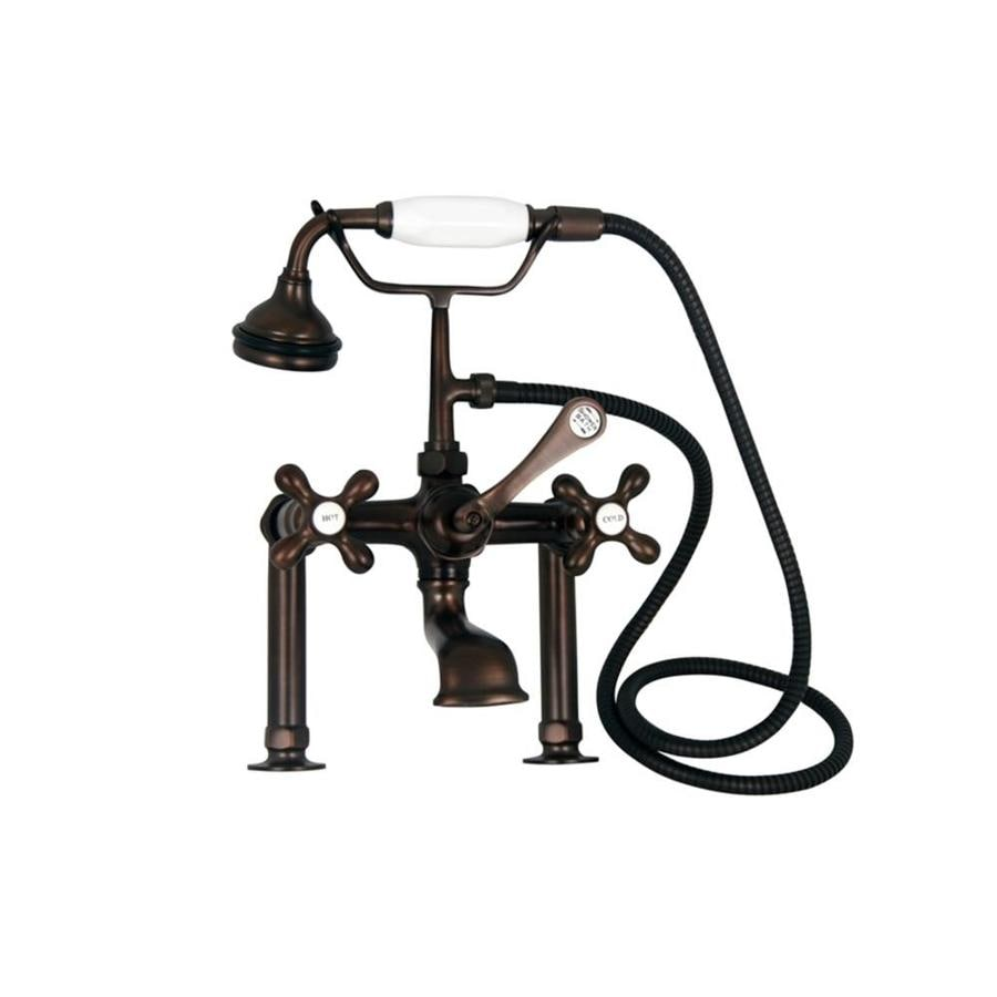 barclay oil rubbed bronze 3 handle bathtub and shower faucet with valve in the shower faucets department at lowes com