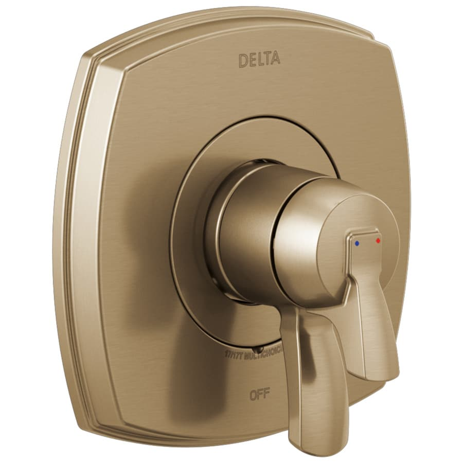 delta 0 5 in champagne bronze bathtub shower diverter in the bathroom shower faucet accessories department at lowes com