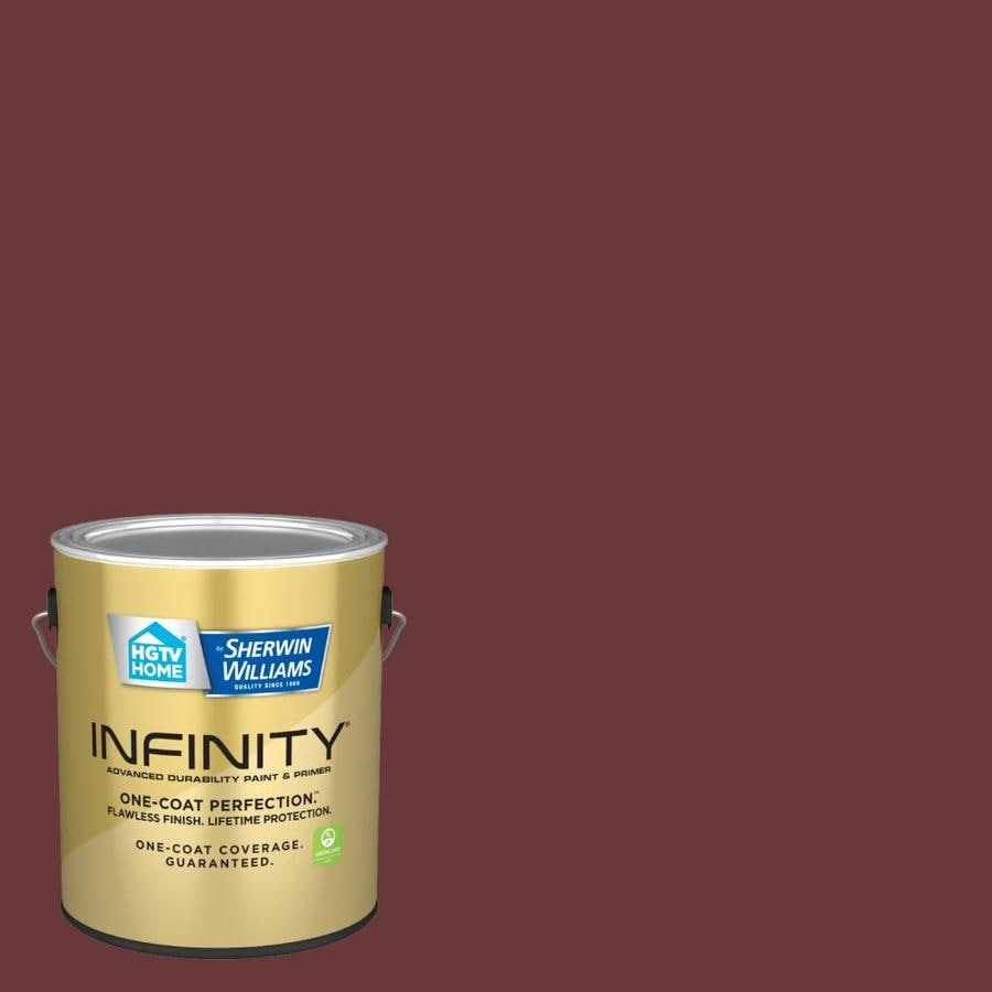 hgtv home by sherwin williams infinity eggshell spanish tile 1010 5 interior paint 1 gallon in the interior paint department at lowes com