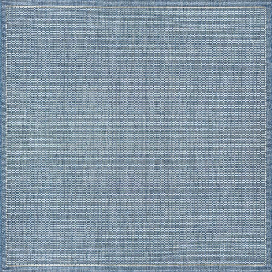 couristan recife 8 x 8 champagne blue square indoor outdoor area rug in the rugs department at lowes com