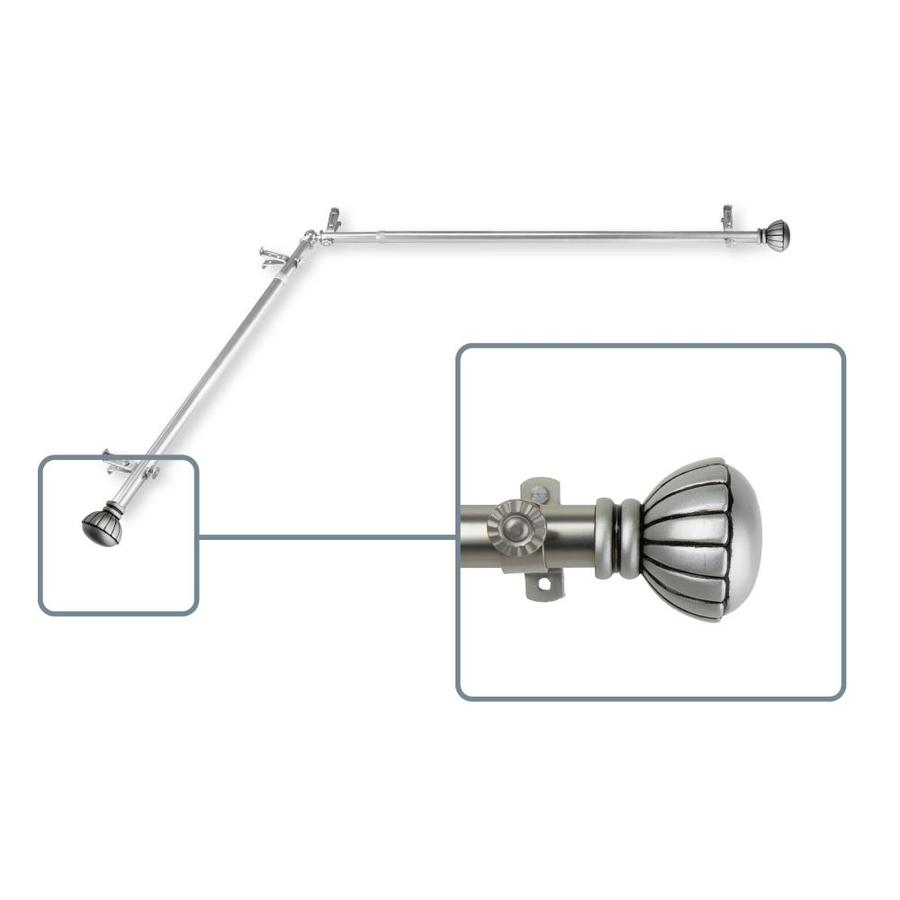 hart harlow melony 13 16 in 28 in to 48 in satin nickel steel corner curtain rod in the curtain rods department at lowes com
