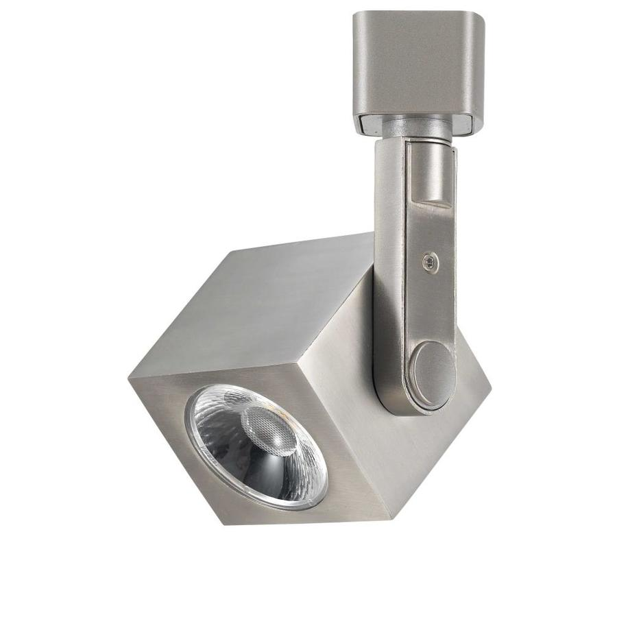 cal lighting brushed steel integrated led track fixture in the track lighting heads department at lowes com
