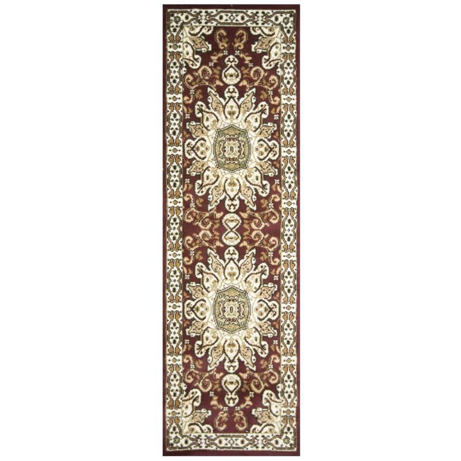 msrugs msrugs meredosia oriental red 3 ft by 8 ft runner rug in the rugs department at lowes com