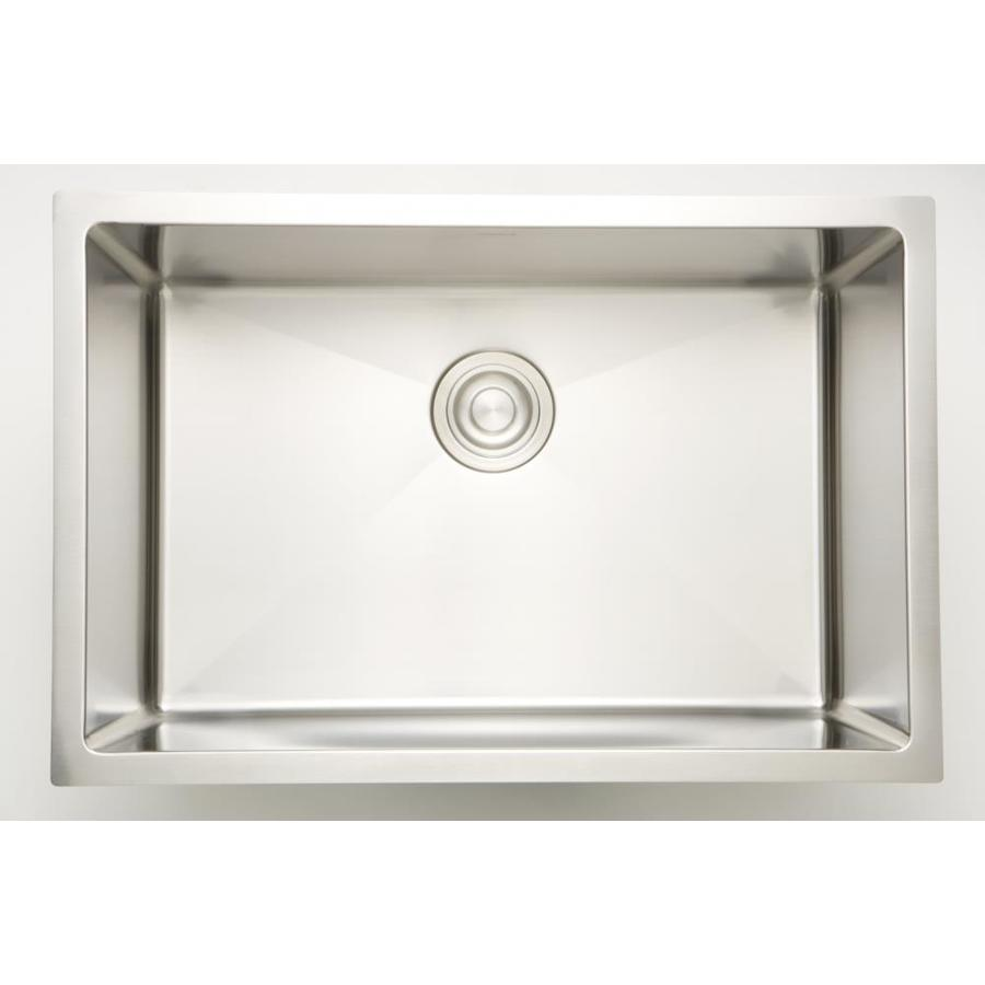 american imaginations 27 in x 18 in 1 basin stainless steel undermount laundry sink with drain and faucet in the utility sinks department at lowes com