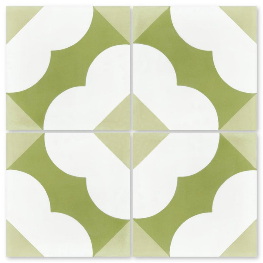 villa lagoon tile south beach 8 in x 8 in matte cement encaustic floor and wall tile sample in the tile samples department at lowes com