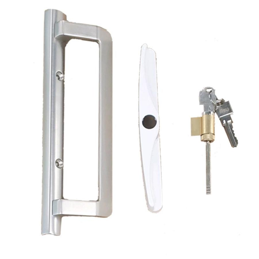 fits 3 15 16 hole spacing white diecast new replace old or damaged door handles quickly and easily prime line c 1225 sliding patio door handle set non keyed mortise style door hardware locks