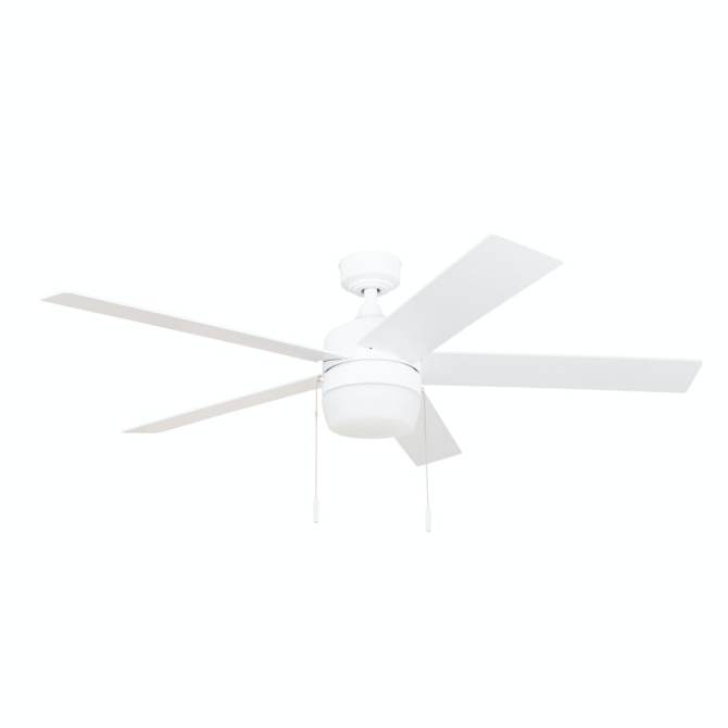 harbor breeze newbern white 52in indoor ceiling fan 5blade