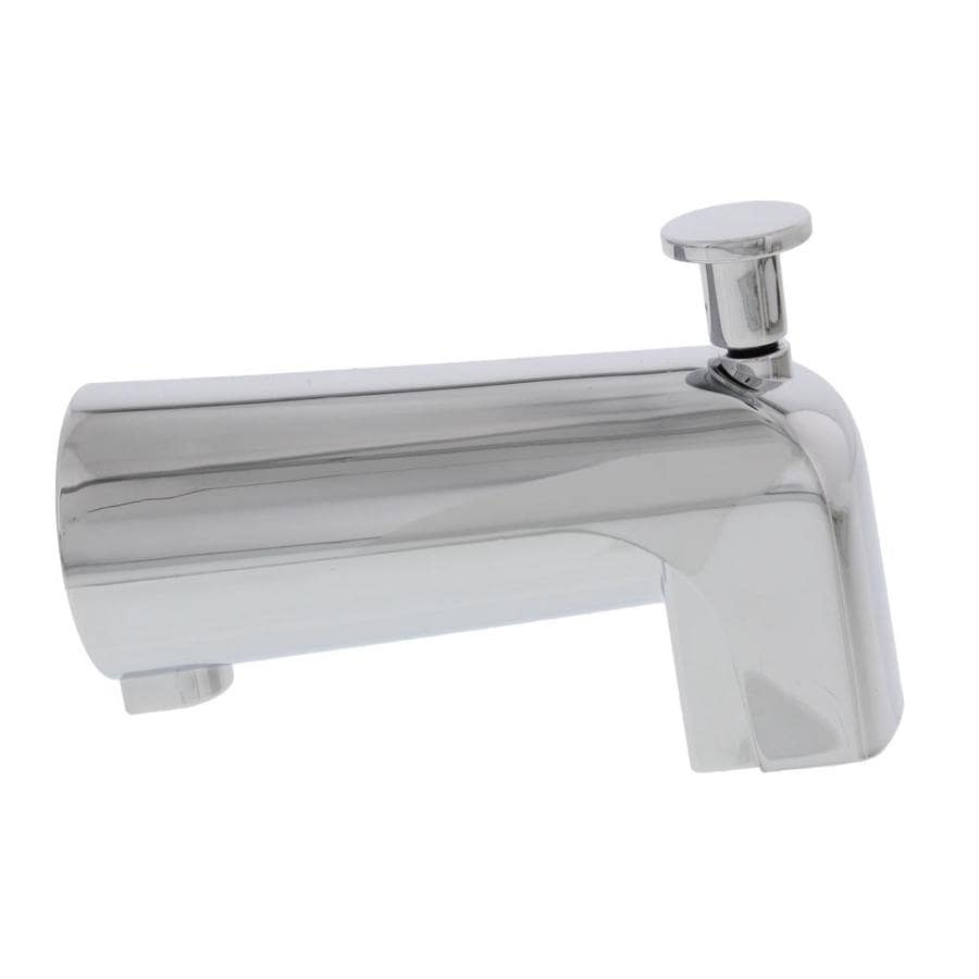 road home tub to shower diverter spout fits all 4 in standard diverter faucets in chrome finish with non metallic construction in the bathtub spouts department at lowes com