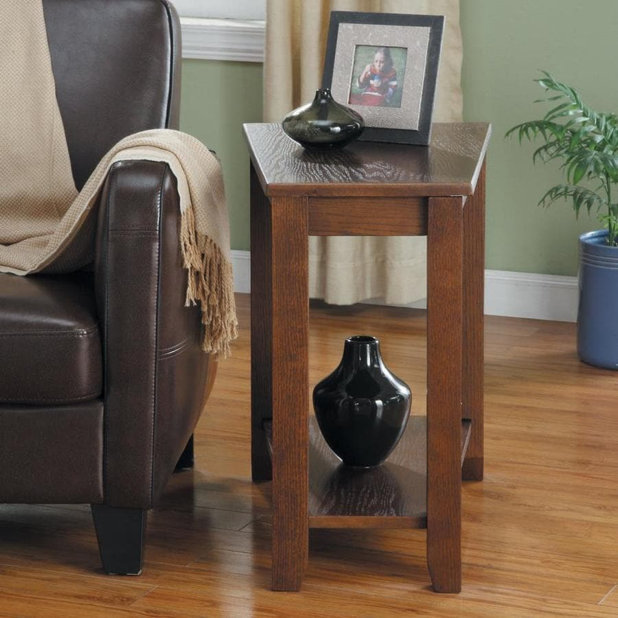 homelegance elwell espresso composite end table in the end tables department at lowes com
