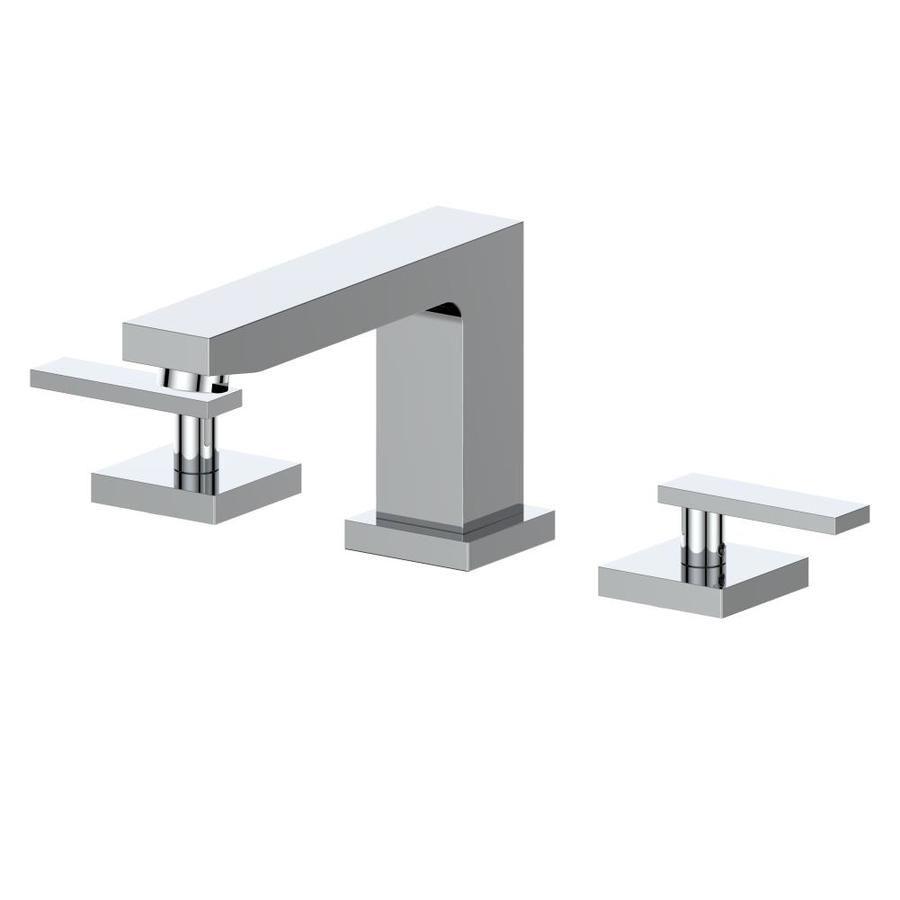 zline kitchen bath crystal bay chrome 2 handle widespread bathroom sink faucet with drain in the bathroom sink faucets department at lowes com