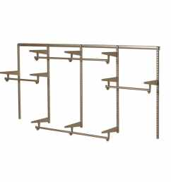 knape vogt closet culture 96 ft to 96 ft x 16 875 in champagne nickel wire closet kit [ 900 x 900 Pixel ]