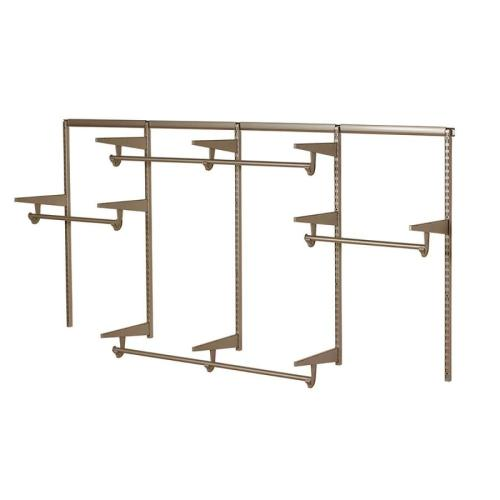 small resolution of knape vogt closet culture 96 ft to 96 ft x 16 875 in champagne nickel wire closet kit
