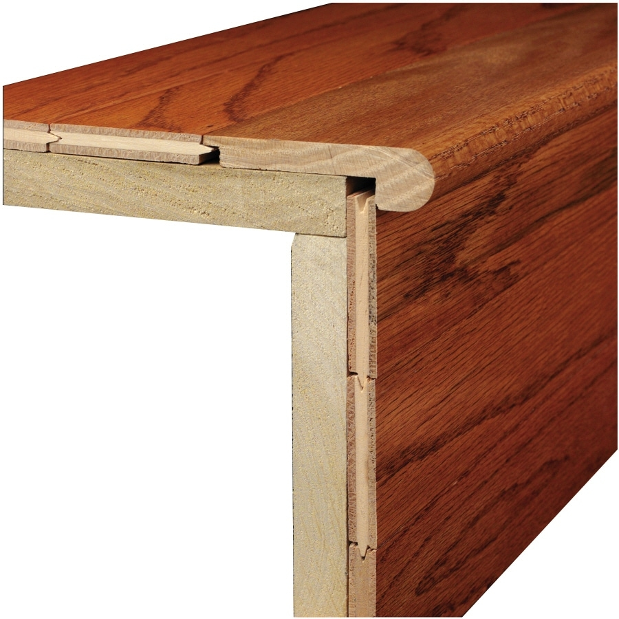 Bruce 3 12 In X 78 In Marsh Natural Wood Stair Nose Floor Moulding | Bruce Hardwood Stair Treads | Trim | Autumn Glen | Plywood | Red Oak | Nose Molding