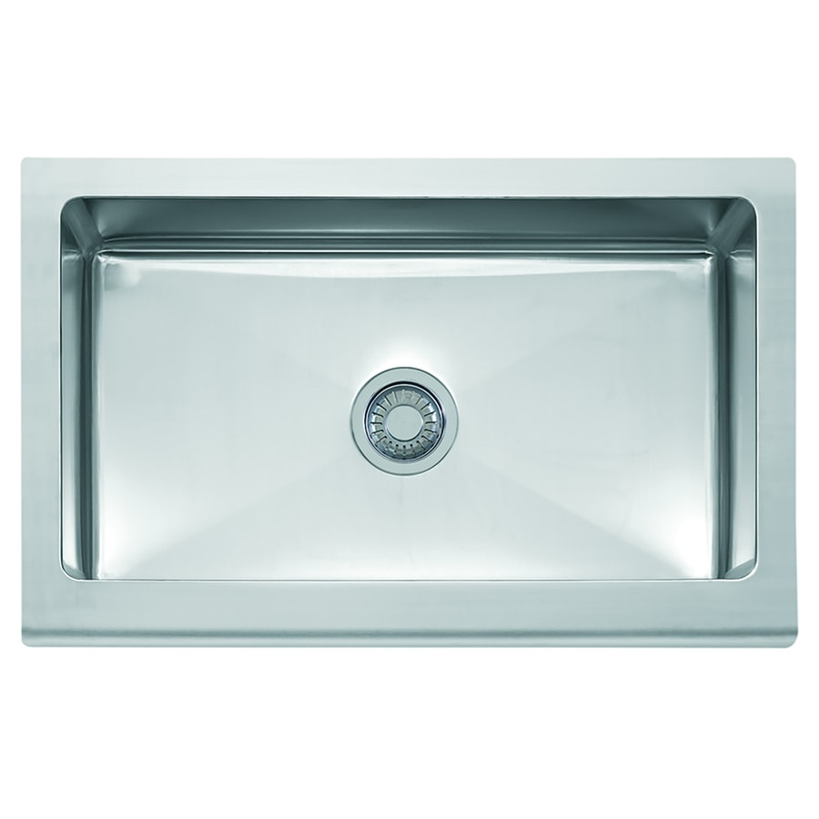 franke manor house farmhouse apron front 33 in x 20 875 in stainless steel single bowl kitchen sink