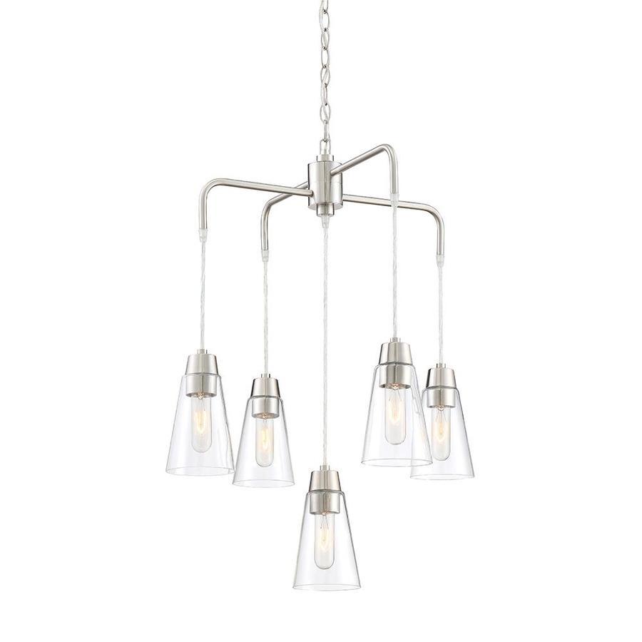 Designers Fountain Echo 5-Light Satin Platinum Modern