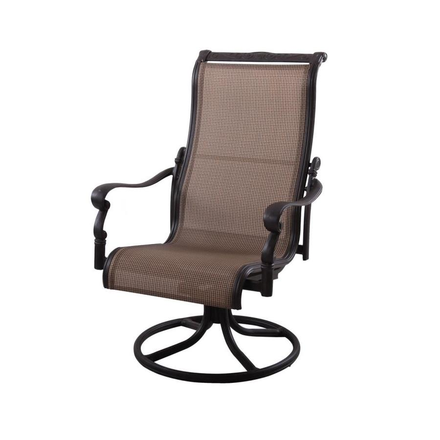 patio chairs at lowes pink camo camping chair darlee monterey antique bronze aluminum dining com
