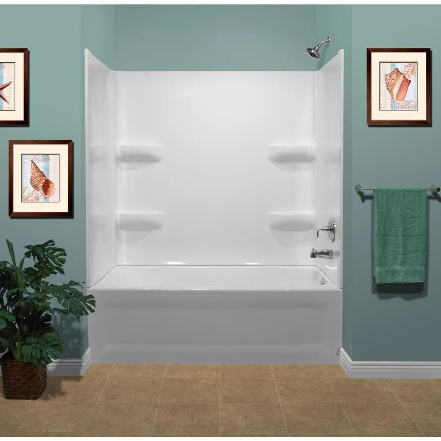 Shop Style Selections White Acrylic Bathtub Wall Surround