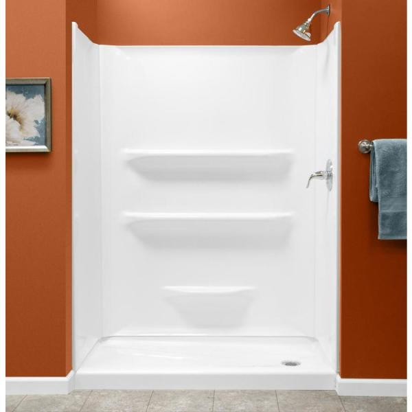 Style Selections White Shower Wall Surround -piece